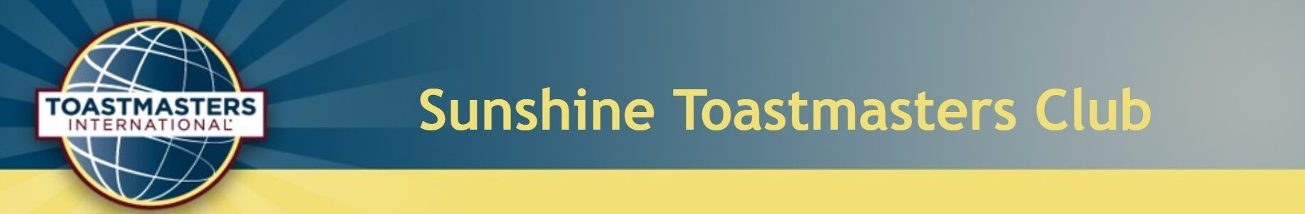 Sunshine Toastmaster Banner